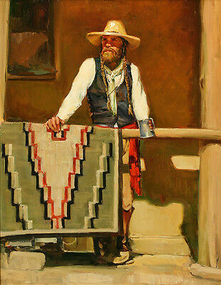 "Cowboy Oil painting Giclee Art Printed on canvas 16""x20"" L241"