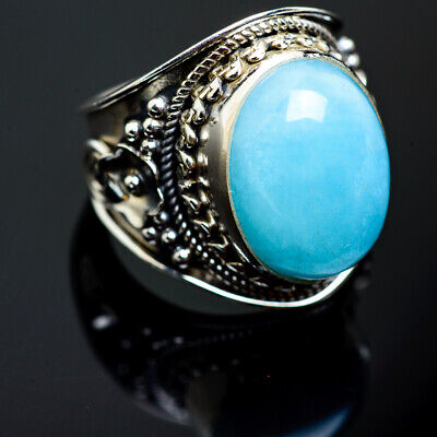 Aquamarine 925 Sterling Silver Ring Size 6.75 Ana Co Jewelry R992448