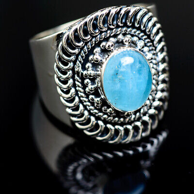 Aquamarine 925 Sterling Silver Ring Size 9.25 Ana Co Jewelry R989157