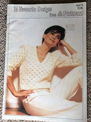 Vintage Patons Knitting Pattern Book 778 16 Favourite Designs from Patons