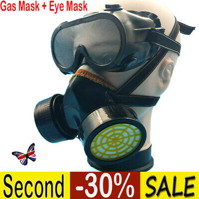 Anti Gas Mask Survival Safety Respiratory Emergency Filter Face Mask Protect CA