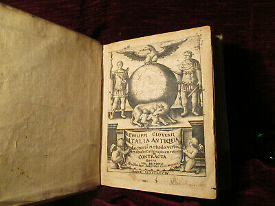 1624 Geographie Buch Philipp Clüver Italia Antiqua Roma old geography book