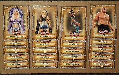 (20) 2020 TOPPS WWE Road to Wrestlemania Roster Insert Lot 20/50 Reigns Lesner +