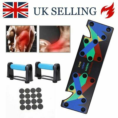 9 in1 Pushup Stands Workout Train Gym Exercise Board Rack Fitness System Push Up