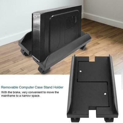 PC Desktop CPU Stand Holder Computer Tower Case Wheels Width US
