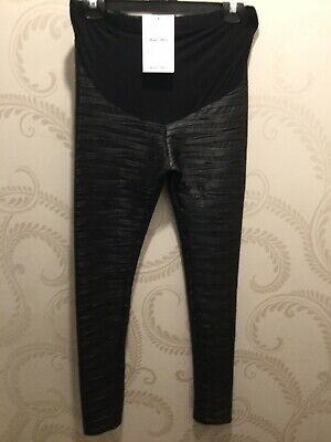 Asos Maternity Size 8 Black Shimmer Leggings*