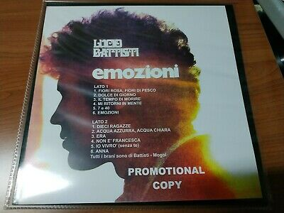 Lucio Battisti Emozioni Promotional Copy Lp Nuovo