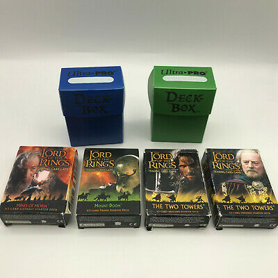 Lord of the Rings Trading Card Game Collection Lot of 6 Boxes Misc Cards AS IS