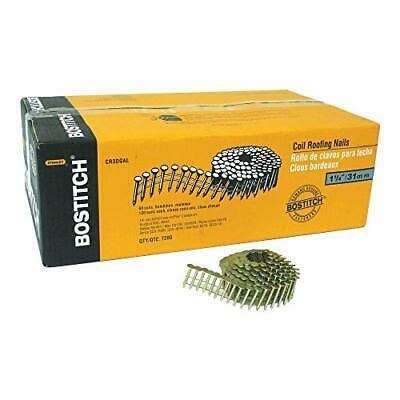 BOSTITCH Roofing Nails Wire Collated Coil 1-1/4-Inch Smooth Shank 15-Degree 7...