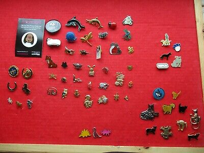 ANIMALS DOGS CATS BEARS PETS MODERN & VINTAGE COLLECTION JOB LOT PIN BADGES 99p