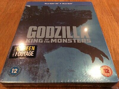 Godzilla - King Of The Monsters, Factory Sealed 3D & Blu Ray Steelbook.