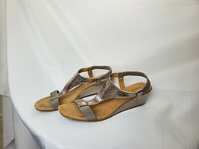 Alfani Womens Voyager Open Toe Casual T-Strap Sandals, Gray Size 9.5