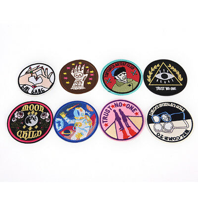 8 Style Patch Embroidered Iron On Applique patches for clothes DIY AccessoriePHN