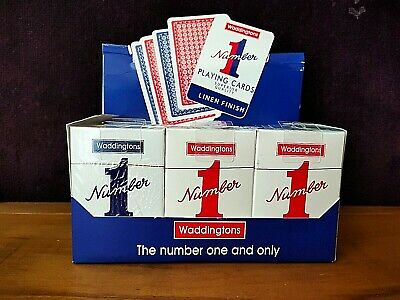 Waddingtons No.1 Classic Playing Cards   Red And Blue