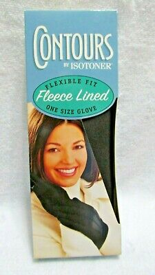 NIP Flexible Fit Fleece Lined One Size Glove Contours By Isotoner