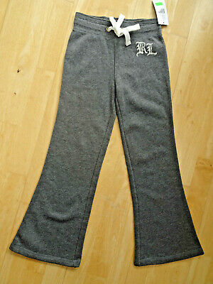 RALPH LAUREN POLO girls grey heather tracksuit trousers designer AGE 6 YEARS NEW