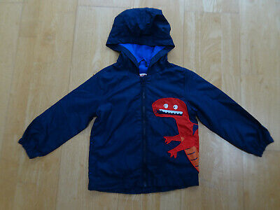 BLUEZOO boys navy blue lightweight hooded jacket coat AGE 3 - 4 YEARS EXCELLENT