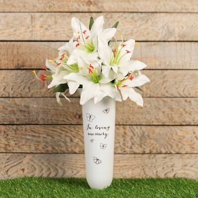 In Loving Memory Spiked Memorial Grave Vase | Thoughts Of You | Remembrance Vase