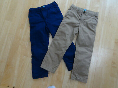 GAP boys 2 PACK navy brown lined chino trousers AGE 5 YEARS EXCELLENT COND