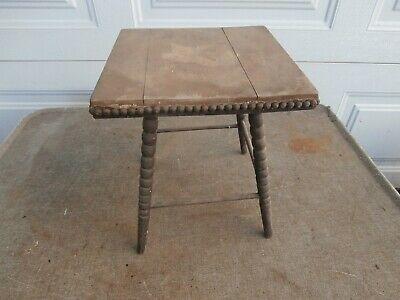 Antique Salesmans Sample ? Small Wooden Stand Table