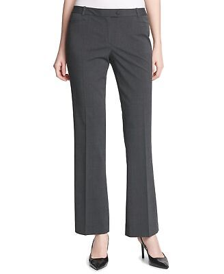 Calvin Klein Womens Pants Gray Size 10P Petite Dress Tapered Stretch $59 709