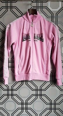 Lonsdale Girls Nice Pink Zip Up Jacket Age 13 Years