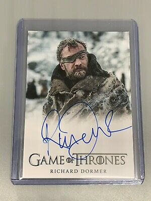 Richard Dormer 2020 Rittenhouse Game Of Thrones S8 Auto As Ser Beric Dondarrion