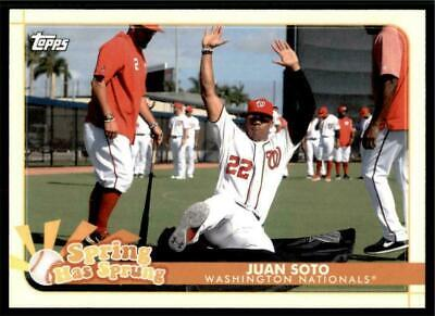 (3) 2020 Topps Opening Day Spring Has Sprung #19 Juan Soto Nationals Insert LOT