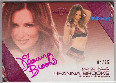 2011 Benchwarmer Pink Auto: Deanna Brooks #4/25 Autograph Playboy Playmate Hft