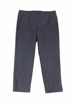 Tribal Womens Pants Ink Blue Size 6P Petite Printed Cropped Stretch $68 878