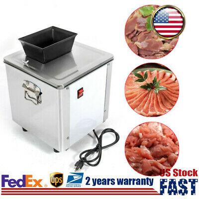 Commercial Electric Meat Cutter Slicer Flesh Shredding Cutting Machine Kitchen