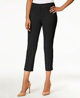 Nine West Womens Dress Pants Navy Blue Size 16 Cropped Solid Stretch $79 222
