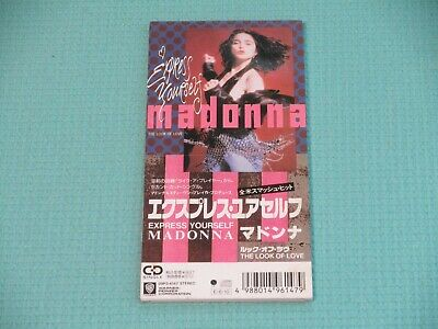 """MADONNA 3"""" CD Single Express Yourself / The Look Of Love 1989 Japan 09P3-6147"""