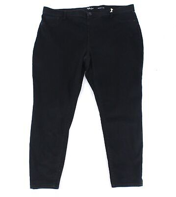 Style & Co. Womens Jeans Black Size 22W Plus Skinny Pull-On Stretch $59 037