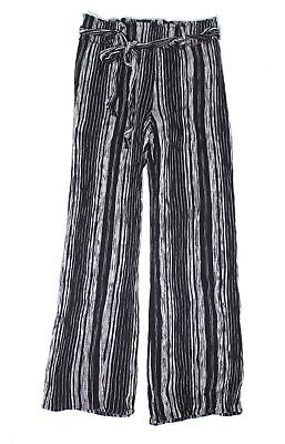 Shinestar Womens Pants Black Size Medium M Striped Wide Leg Stretch $38 211