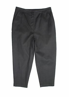 Eileen Fisher Womens Pants Washed Black Size XL Slim Cropped Stretch $168- 029