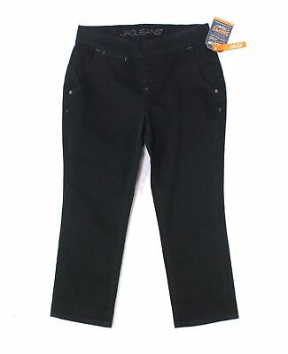 Jag Jeans Women's Black Size 4P Petite Cropped Pull On Pants Stretch $69 #825