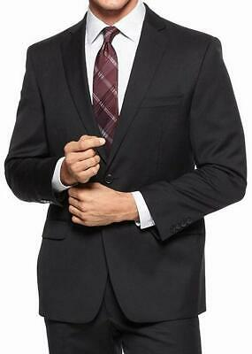 Calvin Klein Mens Suit Separate Black Size 40 Modern Two Button Wool $325- 544