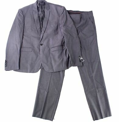 Mage Male Mens Suit Gray Size 5Xl Notch-Collar Three Pocket 3 Piece $125 473