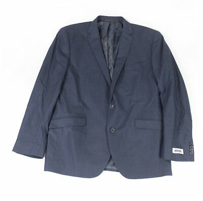 Unlisted by Kenneth Cole Mens Blazer Blue Size 44 Plaid Two-Button $295- #209
