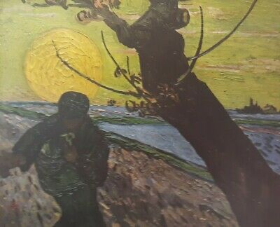 """Vintage 1952 full Color Art Plate """"The Sower"""" by Van Gogh Lithograph Abrams"""