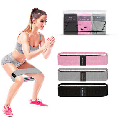 Non Slip Latex Loop Band Exercise Hip Glute Heavy Duty Resistance Booty Bands