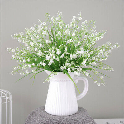 6PCS Artificial Fake Plastic Green Leaves Grass Boxwood Plant Flowers Home Decor