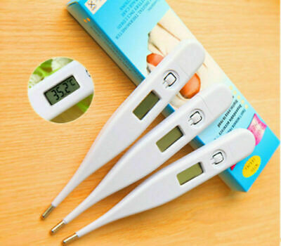 3* Digital Thermometer Medical LCD Display Oral Ear Underarm Audible Fever Alarm