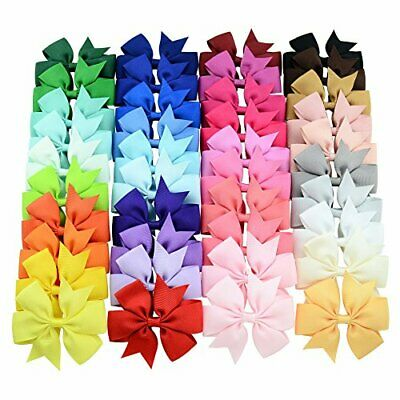 40 Pcs Lots Boutique Baby Girls Hair Bows Kids Alligator Hair Clips Pairs