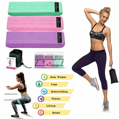 Resistance Bands Booty Fabric Glutes Hip Circle Legs Squat Yoga Non Slip