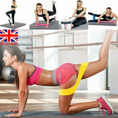 5PCS Resistance Bands Power Lifting Exercise Band Fitness Pull Up Band Latex UK