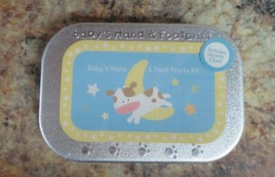 Carters Baby Hand & Footprint Kit Tin New Sealed Free Shipping
