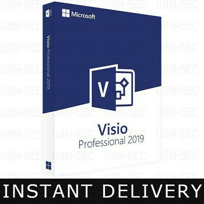Microsoft Visio 2019 Professional + Download. Instant Delivery