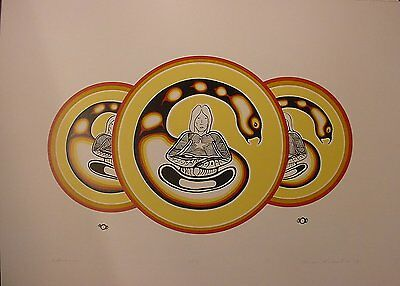 Reflections by James Kakepetum  Great Cdn Print Limited Edition Serigaph Print
